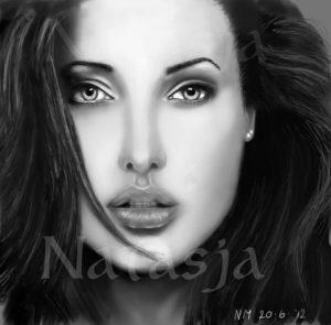 Mijn tekening van Angelina-Jolie.